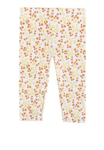 DU PAREIL AU MÊME (DPAM) white Baby Girl Flower Print Leggings 0C14BKA63D5B6BGS_1