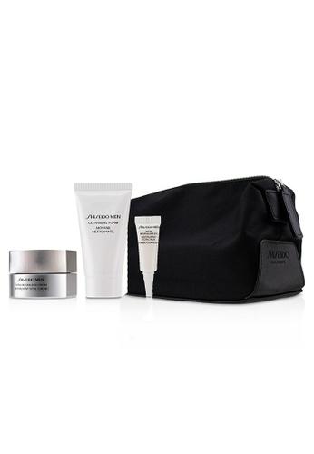 Shiseido SHISEIDO - Men Total Age-Defense Program Set: 1xTotal Revitalizer Cream 50ml+1xCleansing Foam 30ml+1xTotal Revitalizer Eye 3ml+1xPouch 4pcs 7693EBE3830D07GS_1