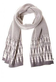 Checkered Center Ikat Scarf