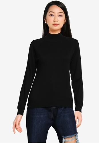 ZALORA BASICS black Mock Neck Sweater FAC63AA1444285GS_1