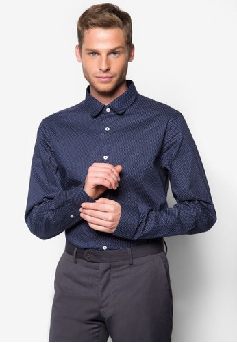 點點印花長袖襯衫,esprit香港分店 服飾, 襯衫