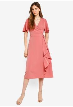 5cd031d7 Dorothy Perkins pink Petite Rose Wrap Front Midi Dress 9E44BAA19D65B0GS_1