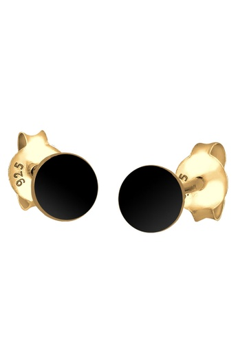 ELLI GERMANY black Elli Germany Earrings Circle Studs Sterling Silver Basic Geo Goldplated BCA58AC970635DGS_1