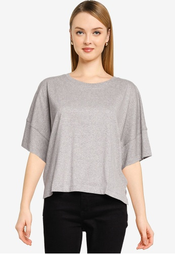 French Connection grey Tally Organic Jersey Crew Neck Tee C50F0AAC8A663EGS_1