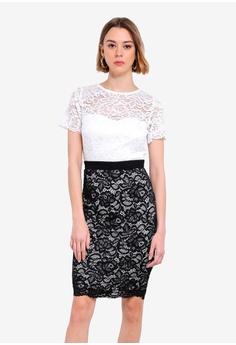 b4f713e8077 Paper Dolls black and white Lace Bodycon Dress FEF20AA7FAD8DAGS 1