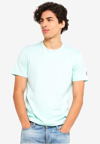 UniqTee 綠色 無痕 圓領T恤 1A93CAA1778A00GS_1