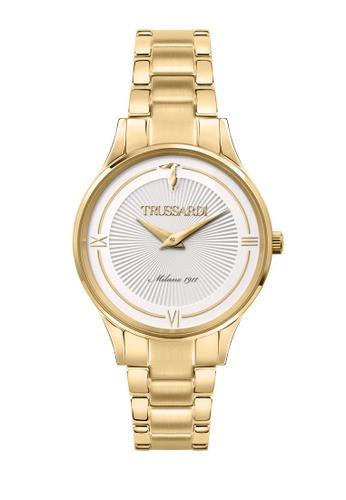TRUSSARDI gold Trussardi Gold Edition 34mm White Silver Dial Ladies Quartz Watch R2453149503 8DDC3AC2AD8009GS_1