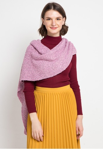 VOYANT BY MEGUMI pink Plain Scarf 53DF6AA98E8CECGS_1