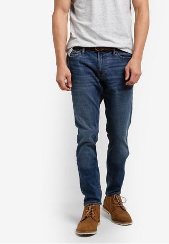 Abercrombie & Fitch blue Super Slim Dark Jeans AB423AA25IPEMY_1