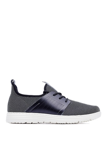 Life8 black Lightweight Elastic Knit Casual Shoes-09246-Black LI286SH54XBDMY_1