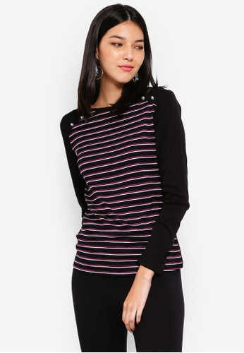 OVS black Striped T-Shirt 835A9AA673E3ACGS_1