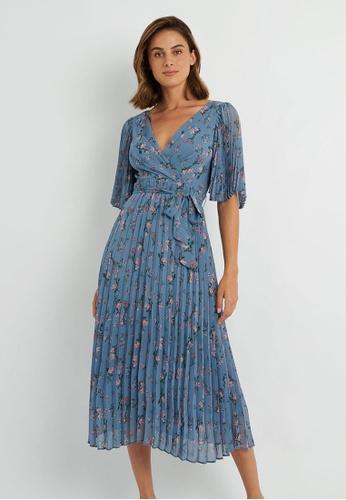 FORCAST blue FORCAST Lily Floral Dress 10CA1AA7E9186BGS_1
