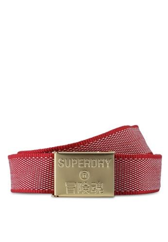 SUPERDRY red Boston Fabric Belt 029D4ACB8F54EFGS_1