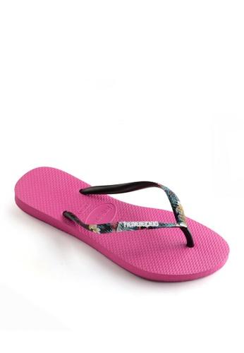 Havaianas pink Slim Strapped Flip Flops 9AC8ASHF4F22A0GS_1