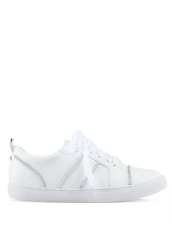 Something Borrowed white Sneakers with zipper details B351ESH544AE26GS_1