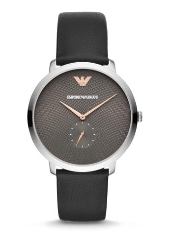 Emporio Armani black Modern Slim Three Hand Watch AR11162 033F4AC4E9FE3DGS_1