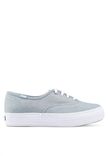 Keds 藍色 彩虹丹寧運動鞋 B2276SH983DFE6GS_1
