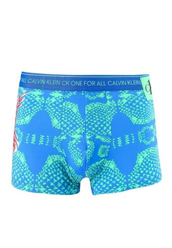 Calvin Klein green and blue Low Rise Trunk - Calvin Klein Underwear D0FE1USB12A3E0GS_1
