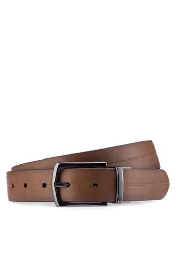 Burton Menswear London brown Brown And Black Reversible Belt BU964AC07ZNKMY_1