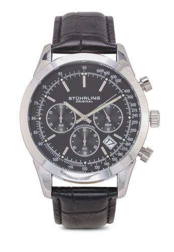 Stuhrling Original black and silver Rialto 3975L Watch B7A8CACCA4FF21GS_1