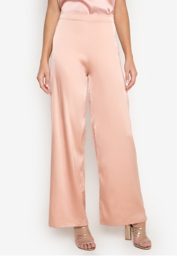 NOBASIC pink Satin Casual Pants NO444AA0FQI1SG_1