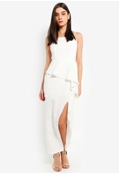 0a73850f2bd20e Preen   Proper white Peplum Waterfall Ruffle Maxi Dress BB9BFAA184598CGS 1