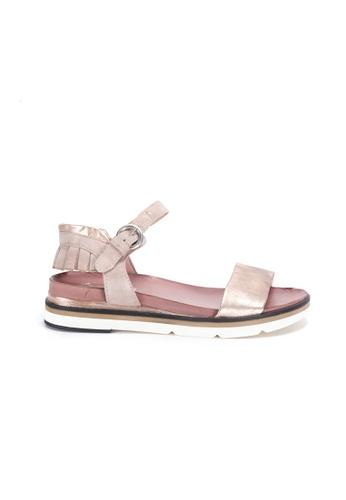 Shu Talk gold Simple Comfy Sandals with Ruffles Ankle Straps 5AD7ESHD5EC711GS_1