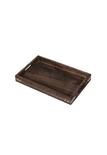 Propstation Burn Paulownia Wood Metal Edge Serving Tray 31.5cm 2BB40HLB4D629FGS_1