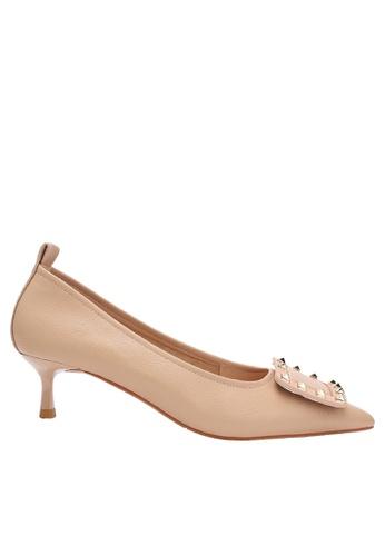 Twenty Eight Shoes Square Buckle Synthetic Leather Round Toe Pumps 2045-19 6DE23SH65BDE88GS_1