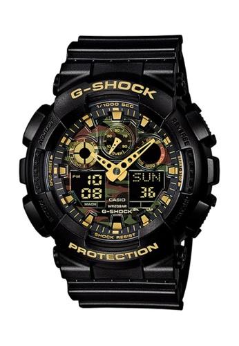 CASIO black Casio G-Shock Gold and Black Resin Watch E0BF1AC4FF5A09GS_1