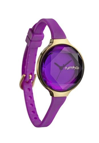RumbaTime blue and purple and gold Rumbatime Orchard Gem Mini Watch Amethyst RU023AC17TMOHK_1