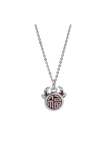 LYCKA silver LDR1351 S925 Silver Fortune Bull Necklace 06486AC2E198CDGS_1