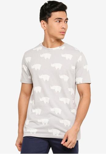 UniqTee grey Festive Graphic T-Shirt 3ADB3AA794092CGS_1