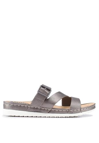 Bata 灰色 鏤空繞帶涼鞋 7CD1ESH0591AB7GS_1