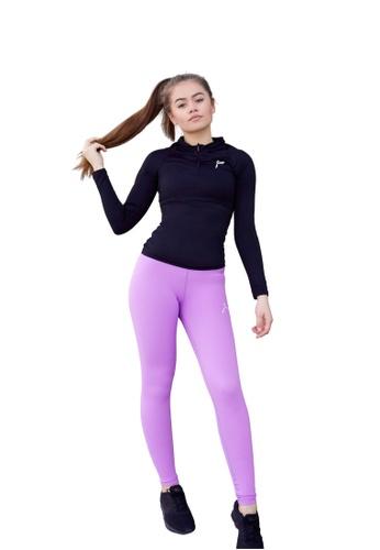 Famme Sportswear purple Famme Sportswear Violet Essential High Waist Tights 5474DAA2ABC4CEGS_1