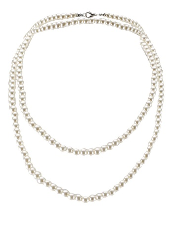 Red's Revenge white Single Strand Long Pearl Necklace CAEC5AC22B7D17GS_1
