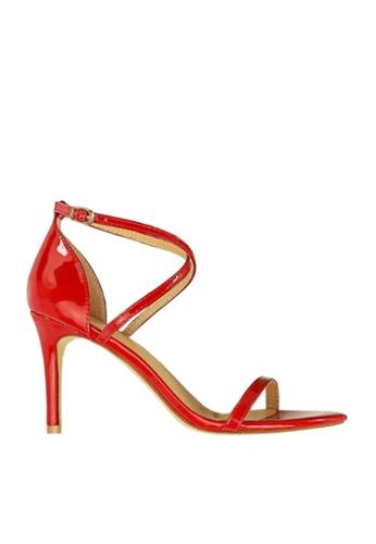 Twenty Eight Shoes 紅色 光亮搭帶高跟涼鞋 VS126A7 DC7D5SH46AFDB2GS_1