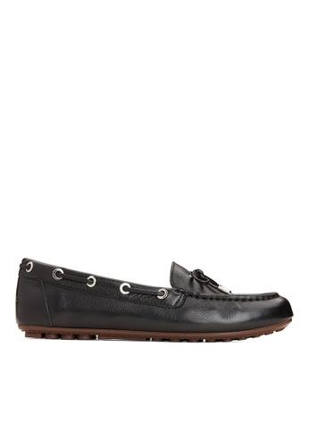 Vionic black Virginia Leather Moccasin 01662SH0D759E3GS_1