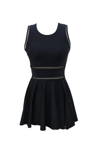 ZITIQUE black Sleeveless Swimdress Swimsuit - Black 0FEEAUS1A1D684GS_1