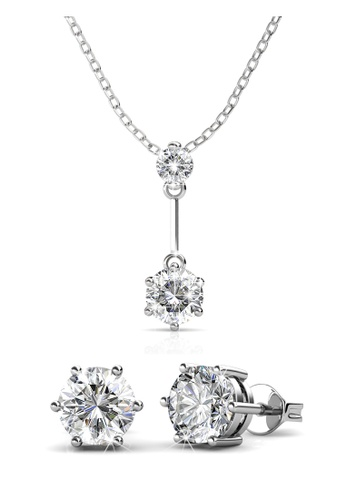 Her Jewellery silver Swarovski® Crystals - Jane Set (18K White Gold Plated) Her Jewellery HE581AC0RDNHMY_1
