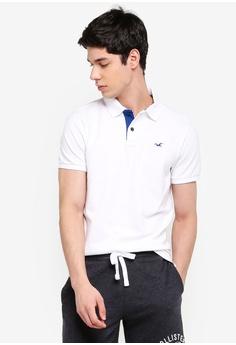 c7732ef9e4 Hollister white Icon Polo Shirt 99519AA94EA083GS 1