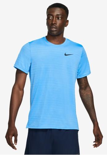 Nike blue Men's Dri-FIT Superset Short-Sleeve Training Top 8A65BAAB90A1C1GS_1
