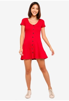 6d6b8fb88bba 16% OFF Hollister Short Sleeve Knit Button Dress S  58.00 NOW S  48.90  Sizes XS S M L