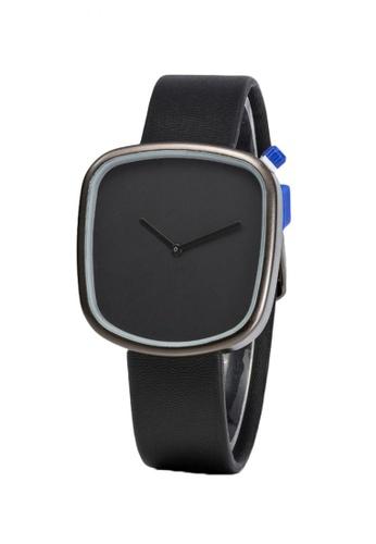 Greatvalueplus black Johnson NYA231 Unique Leather Men's Watch 255D0AC803E252GS_1