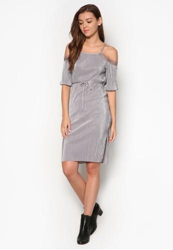 esprit 尖沙咀挖肩細肩帶褶飾連身裙, 服飾, 洋裝