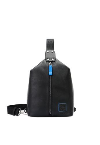Swiss Polo black Zipper Detail Chest Bag E8BA7ACA41C4ABGS_1