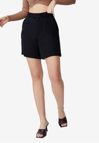 Cotton On black Darcy Tailored Shorts 16F9BAA7697F6CGS_1