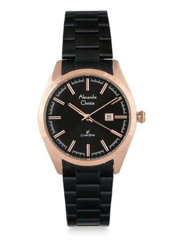 Alexandre Christie black Alexandre Christie Jam Tangan Wanita - Black Rosegold - Stainless Steel - 8560 LDBBRBA 772E5AC0D5459AGS_1
