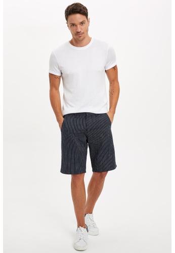 DeFacto navy Regular Fit Cotton Chino Bermuda Shorts BEC09AA191AF04GS_1
