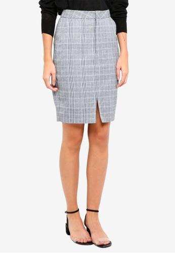 ZALORA grey Pencil Skirt 6DE9AAAB70C3D1GS_1